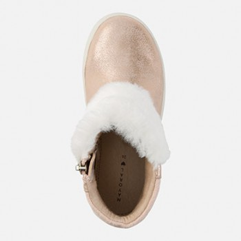 MAYORAL Girl faux fur ankle boots, copper 44751-39
